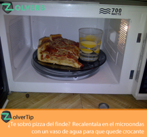 calentar pizza