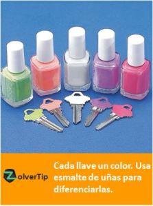 llaves de colores